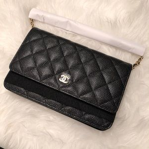 Chanel Wallet on Chain Black Caviar With Gold HW